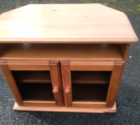 Pine glass front tv unit fixed price delivery available