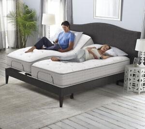Serta Split King Adjustable Bed. Clearance!
