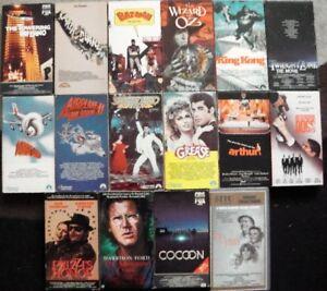 LOT DE FILMS VHS ( anglais )