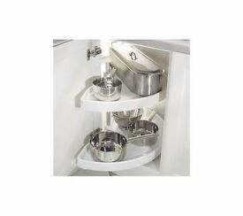 Brand New in Box - NINKA 1/2 Corner Grey Kitchen Carousel 620mm Spindle