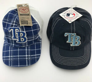 Two Tampa Bay Baseball Caps New With Tags Genuine Merchandise