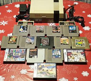 Console et jeux du premier Nintendo (NES) et DS