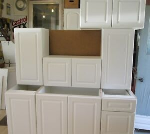 NEW White Kitchen Cabinets -7 pieces