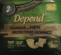 Depend Guards for men $9.99