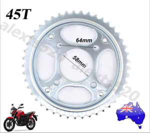 Motorcycle 45 Tooth 45T Rear Sprocket Kit for HONDA CB125E GLH125SH Brisbane City Brisbane North West Preview