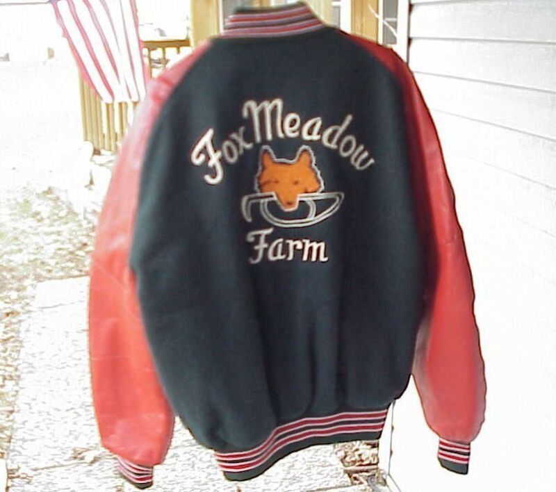 Delong Fox Meadow Farm Horse Training / Boarding Temperance MI  XL Jacket