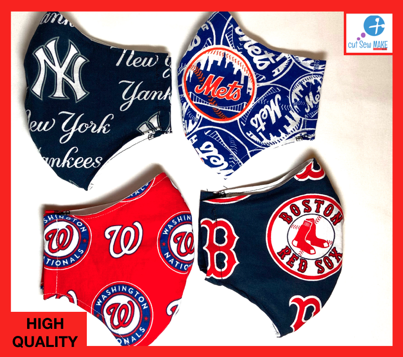 New York METS Face mask - ** FAST SHIPPING ** MULTIPLE TEAMS