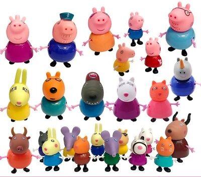 Peppa Pig Figurenset Papa Mama Schorsch Wutz Familie&Freunde Geburtstag Toy