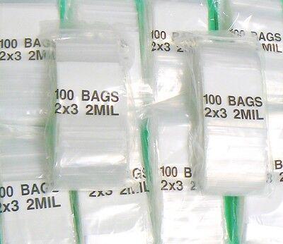 2000 Ziplock Bags 2x3 White Block 2mil Writeable 2 X 3 Small Baggies Zip Lock