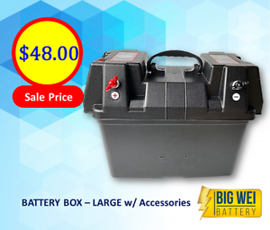 Battery Box – Large with wires & accessories   2 Anderson Plugs Slacks Creek Logan Area Preview