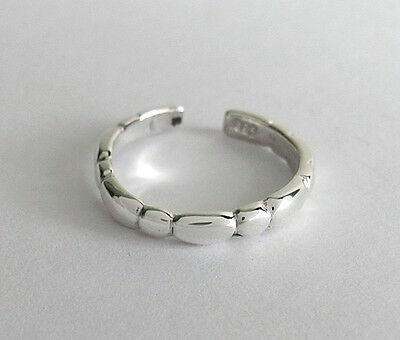 Sterling Silver 3mm beaded adjustable toe ring