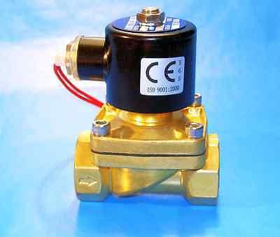 12 Npt 12v Dc Electric Brass Solenoid Valve With Fkm Viton Seal Nc