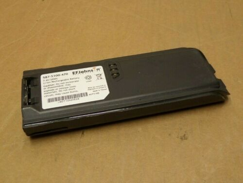 EF Johnson 5100 Series Battery 7.4V/28Wh 587-5100-470 W/Belt Clip Loc PL