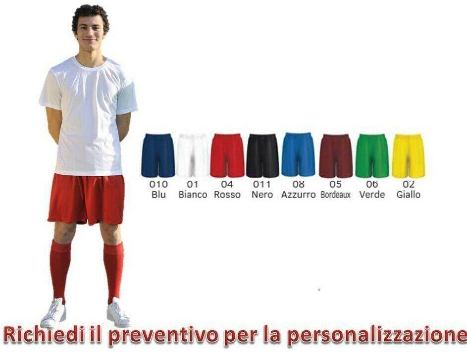 Pantaloncino Calcio Shorts Uomo Tuta Leggero Sportivo 100% Poliestere