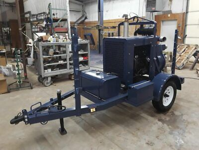 Che 4 Towable Diesel Powered Water Trash Pump Only 169 Original Hours