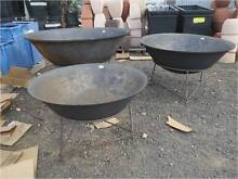 FIRE BOWL  PIT 30% OFF RUSTIC STEEL  GARDEN POTS STATUES VASES Hoppers Crossing Wyndham Area Preview