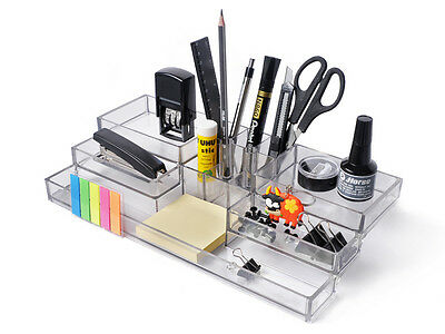 Acryl Büro Schreibtisch Organizer,Bürobedarf,Stift-halter,Aufsteller,Ständer