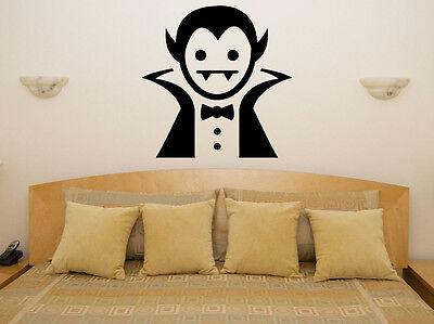 Cartoon Dracula Halloween Vampire Scarey Bedroom Decal Wall Art Sticker Picture ()