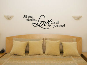 Love is all you need bedroom living room dining decal wall for Ebay dining room wall art