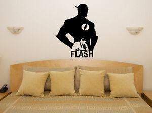 The Flash Superhero Hero Fan Children 39 S Bedroom Decal Wall Art Sticker Picture Ebay