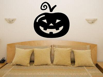 y Halloween Schlafzimmer Aufkleber Bild (Halloween Spooky Kürbis)