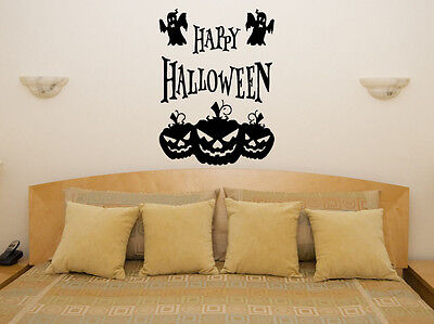 Happy Halloween Pumpkins Scarey Spookey Vampire Wall Art Decal Sticker Picture](Happy Halloween Scary Pic)