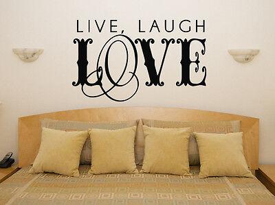 Live Laugh Love Kostüm Motto Schlafzimmer Wohnzimmer Aufkleber Wandkunst - Schlafzimmer Kostüm