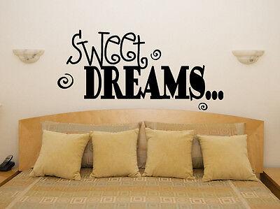 Süßigkeiten Deams Spruch Dicke Kinder Schlafzimmer Aufkleber Wandaufkleber Bild