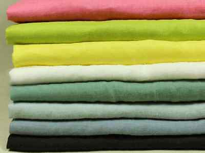 Decorator Fabric By Color -  By the M 100% Ramie Fabric Solid Color Soft Washed Apparel Fashion Bridal Decor