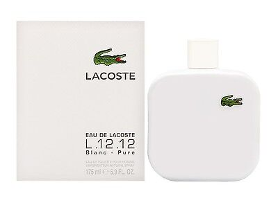 Lacoste L.12.12 Blanc Pure Men 5.9 oz 175 ml *Eau De Toilette* Spray Nib Sealed