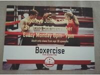 Boxercise Class at wooteys junior school