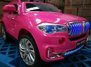 Kids ride On Car BMW X5 Style PINK 12V,Leather seats,Rubber wheel Greenacre Bankstown Area Preview
