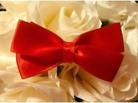 Red Handmade Satin Hair Bow