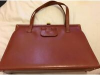 LADIES VINTAGE DESIGNER BROWN HAND BAG BY LODIX - MINT LIKE NEW CONDITION - £65 ONO