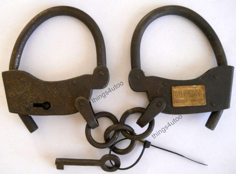 Western steel Tombstone hand cuffs prison police handcuffs #E141