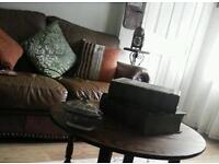 Free sofa and chair leather good con v comphy