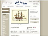 guiseppe pair of ship prints