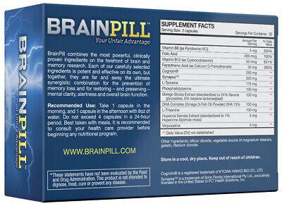 Brain Pill Enhancement Complex, 100% Natural - (60 Cap) 1