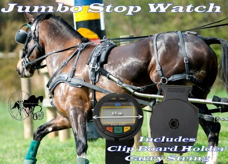 Carriage Driving Stop Watch  HDT Marathon Competitor Jumbo Stop Watch Lap Time