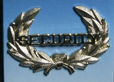 Law Pro Security Wreath Hat Badge Pin Silver . Made By Quartermaster New