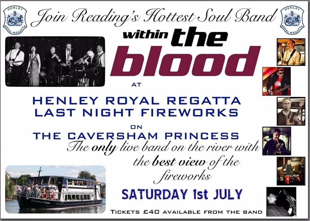Tickets to Last Night of Henley Regatta Boat Party, Live Band