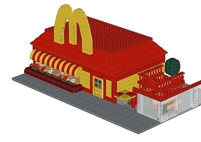 Hamburger Restaurant 10185 10182 10218 10211 Instructions Lego