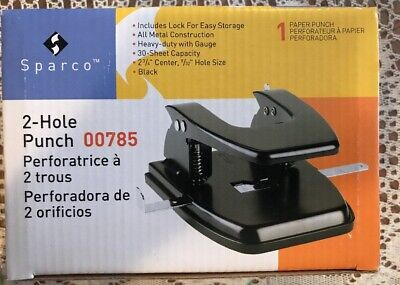 Sparco Heavy Duty Metal 2-hole Punch - New