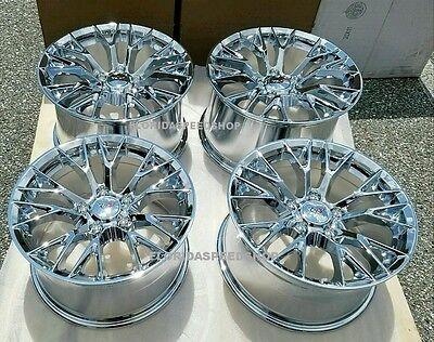 """Chrome C7-Z06 Style Corvette Wheels SET FITS: 1997-2004 C5 17X9.5/18X10.5""""  for sale  USA"""