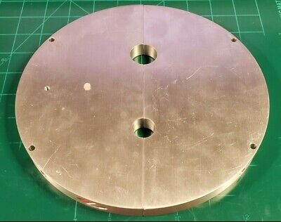 15.3mm Thick Aluminum 6061 Plate 8 O.d. Disk Cut In Half. As Shown C2b2