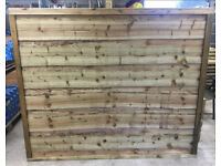 🌈 High Quality Heavy Duty Tanalised Waneylap Wooden Garden Fence Panels