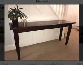 Fabulous Dark Wood Console Table Sideboard