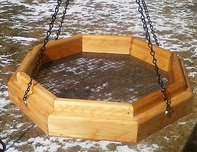 Handmade hanging octagon platform cedar wood bird/squirrel feeder, TBNUP #1SO