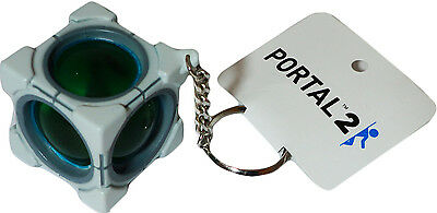 Valve Portal 2 Refracting Box Vinyl Key Chain Crowded Coop New W/ Tag Official ()