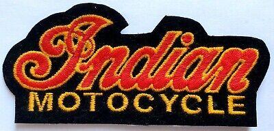 "RARE NEW Classic ""INDIAN MOTOCYCLE"" Biker Logo Patch Script VTG NOS 4.25"" Med"